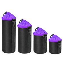 4pcs/Set Thick Lens Pouch Camera Lens Bag Neoprene DSLR Camera Lens Pouch Protector Bag Case Set jjc jn22 protective water resistent pouch bag for camera lens 95mm 150mm