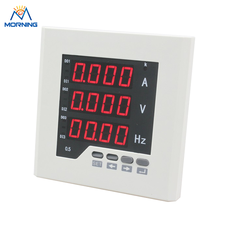 UIF23 AC/DC 85V~265V single phase LED digital voltage ampere and frequency combined meter