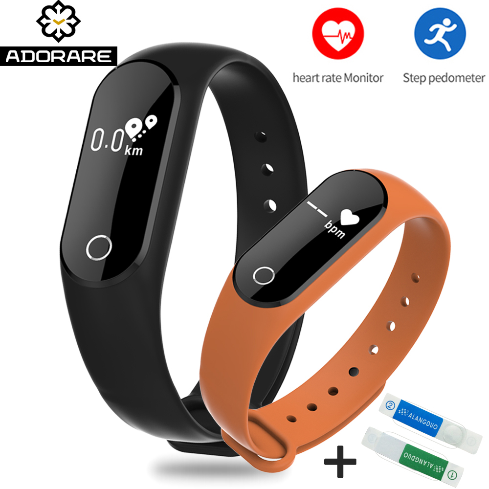ADORARE M6 Smart Watches Sport Heart Rate Monitor Fitness Activity Tracker Smart Bracelet Wristband digital watch PK mi band 2 adorare cd10 smart watch women men bluetooth heart rate monitor fitness tracker smart bracelet pedometer sport wristband