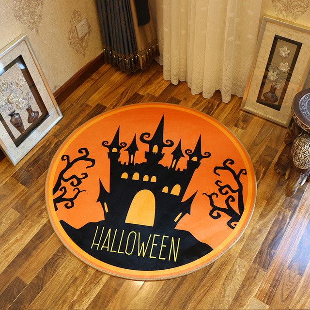 New Halloween Series Cartoon Crocodile Round Bathroom Carpets Living Room  Doormat Kid Room Rugs Door Floor