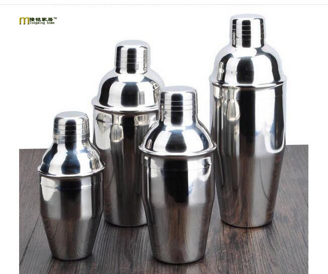 1PC Stainless Steel Cocktail Shaker Cocktail Mixer Wine Martini Drinking Boston Style Shaker For Party Bar