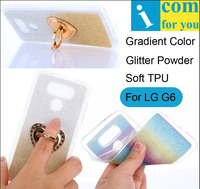 Glitter Gradient Soft TPU Cover Case For LG G6 Bling Powder Sparkle Gradual Change Colorful Silicone
