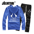 Assassins Creed Hoodies+Pants 2 Piece Set Mens Sportswear 2017 Plus Size 3XL Tracksuits Outwear Lovers Sweatshirt Sweatpant