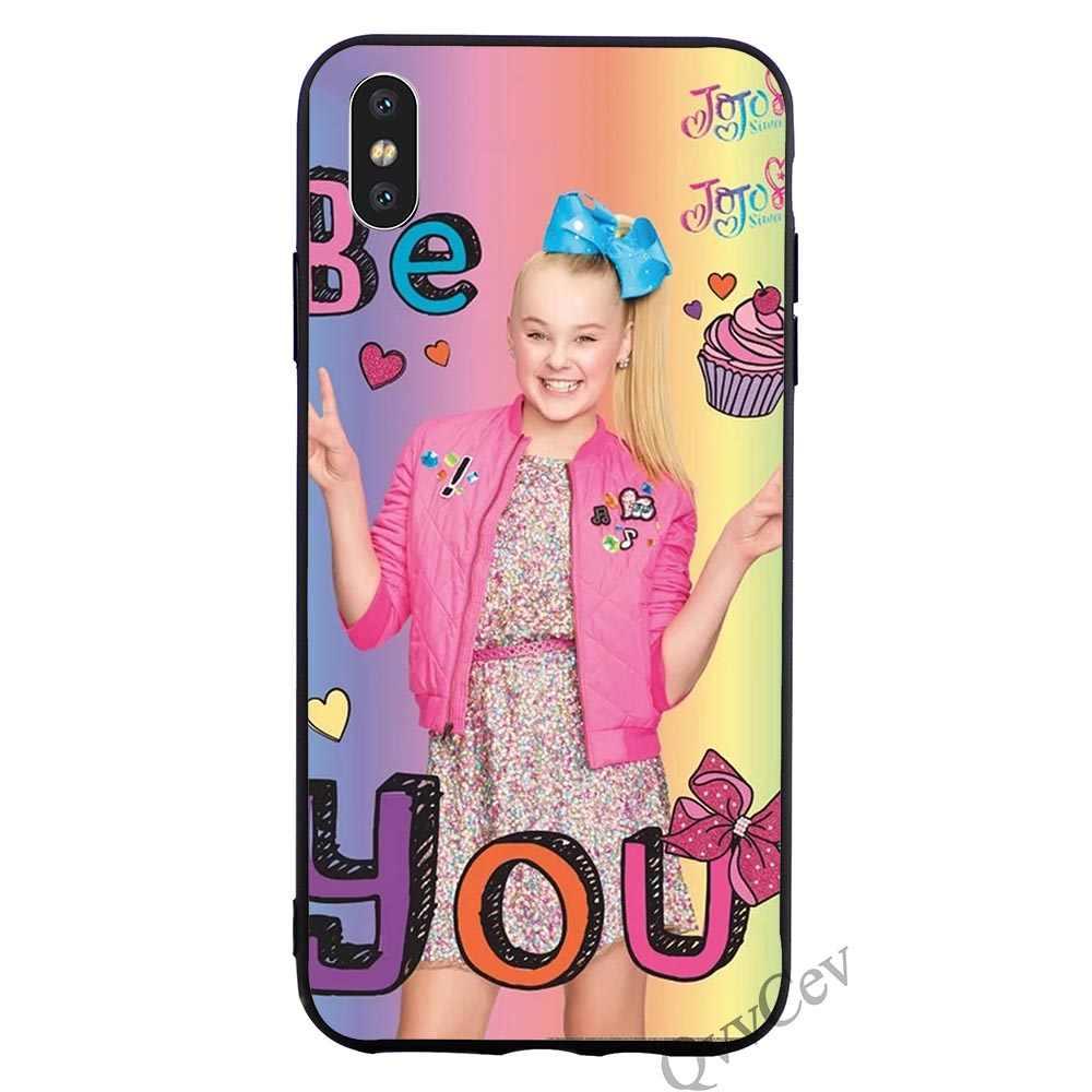 official photos b7b89 0e2bd Hybrid Jojo Siwa Phone Cover for iPhone 6S Case 8 XR X 7 Plus 6 5 5S SE Xs  Max Soft