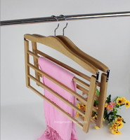 [Free Shipping] Three Colors Multilayer Wooden Storage Hanger  for Pants (4 pieces/ lot)
