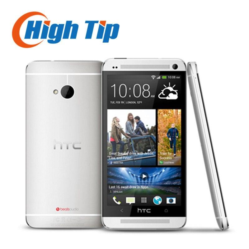 Цена за 100% оригинал разблокирована htc one m7 android коммуникатор 32 ГБ rom 4.7 дюйм(ов) gps 3 г двойной 8 мегапиксельной камерой, wifi, бесплатная доставка восстановленное