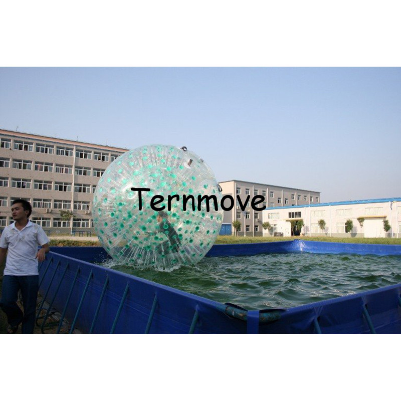 Land body Zorb Ball Inflatable Human Sized like snow zorbing globe riding human hamster ball 1.0mm PVC water rollering ball 3m diameter empty inflatable snow ball for advertisement christmas decorations giant inflatable snow globe