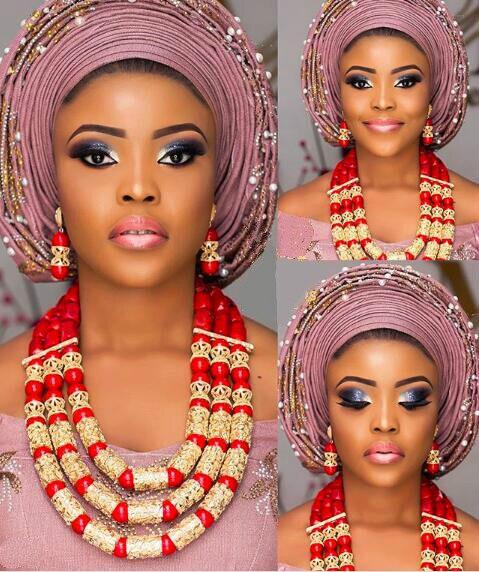 Красный коралл Ювелирные наборы для Для женщин Фантастический красный и золотой в нигерийском стиле свадебный подарок Коралл бисера Цепоч...