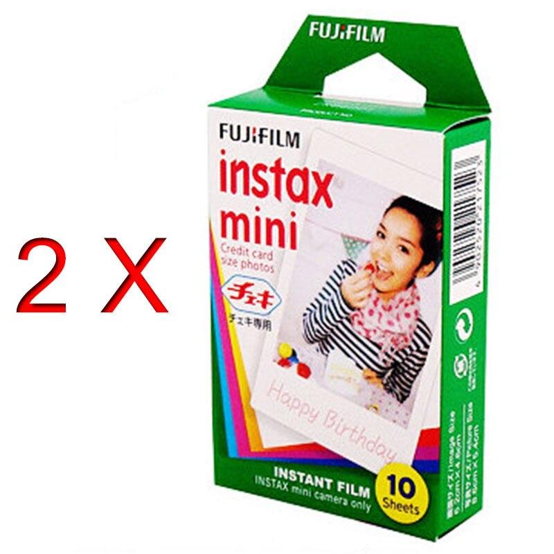 Prix pour Haute qulaity 2X Fuji Blanc D'origine Fujifilm Instax Film Pour polaroid Mini 7 s 8 25 50 s 90 Caméra Partager SP-1 livraison gratuite
