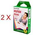High qulaity 2X Fuji White Original Fujifilm Instax Film For polaroid Mini 7s 8 25 50s 90 Camera Share SP-1 free shipping