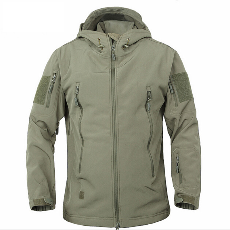 Army Camouflage Coat Military Jacket Waterproof Windbreaker Raincoat Hunt Clothes Army Men Outerwear Jackets And Coat soft shell-in Jackets from Men's Clothing