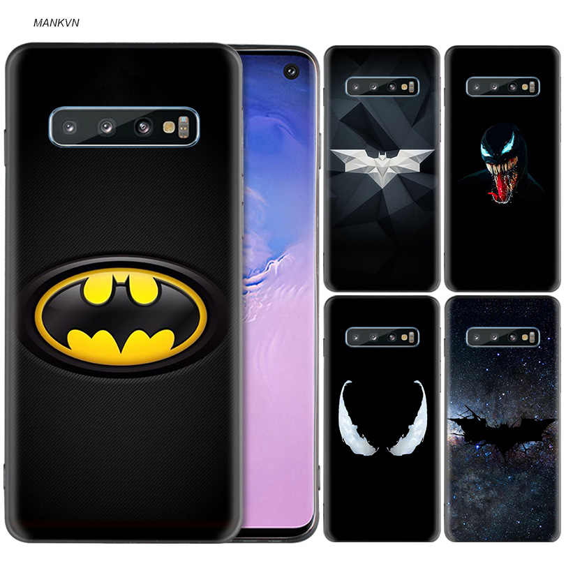 Batman and Venom Black Silicone Case for Samsung Galaxy M20 S10e S10 S9 M10 S8 Plus 5G S7 S6 Edge Cover Coque