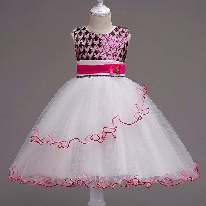 2018 New Baby Girls Sequined Dress Children Kids Dresses For Girls Birthday Outfits Dresses Girls Evening Party Formal Wear Sale 2016 sale new knee length kids kids dresses for girls free shipping2013 fashion dance dressperformance wear costumes th3004c