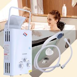 (EU FREE SHIPPING) 6L Portable Tankless Instant  Gas Water Heater 1.6GPM Propane LPG Outdoor RV Camper 12KW