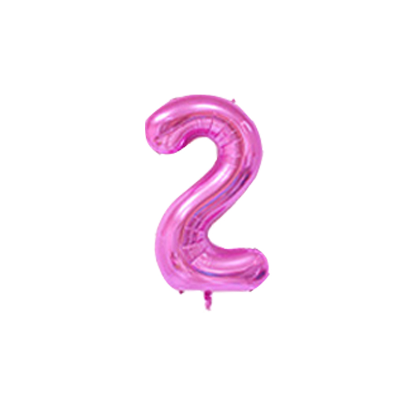 40 inches Number Foil Balloons Wedding Decorations Birthday balloons Party Heart Digit Inflatable Helium Balloons party Supplies