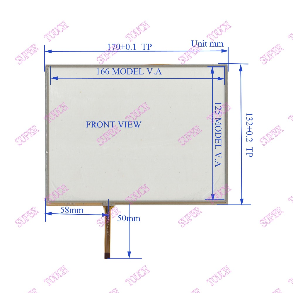 ZhiYuSun HL080L001 170mm*132mm TOUCH SENSOR 8 inch 4-wire 170*132 TOUCH SCREEN use LCD display and commercial with controls zhiyusun 226 173 touch screen use lcd display and commercial new 226mm 17mm sensor 10 4 inch 4 wire