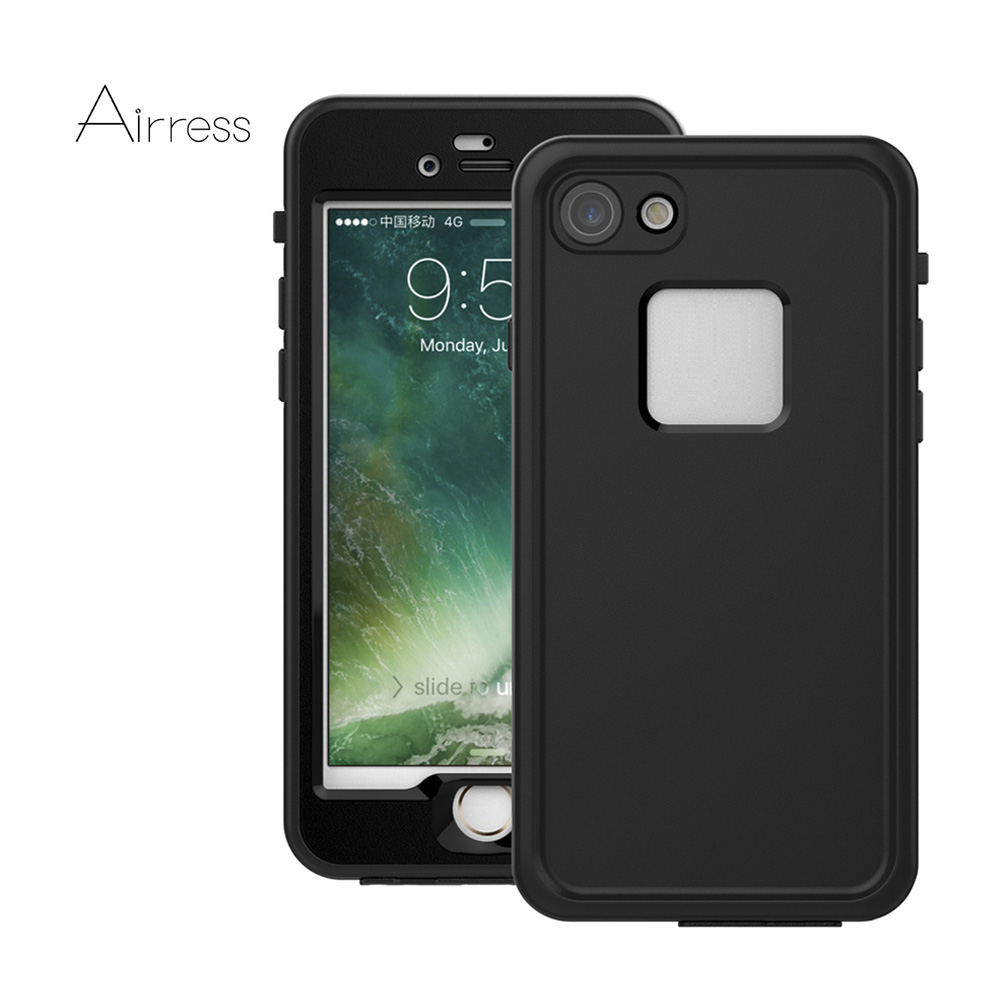 the best attitude d158b 46351 US $10.0 9% OFF|Airress IP68 Waterproof Case for Apple iphone 7 8 7 Plus 8  plus With Touch ID And Charging PIN/Audio Access-in Phone Pouch from ...