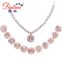 DAIMI Twelve Constellations Fine Natural Pearl & Romantic Pendant Necklace 2015 New