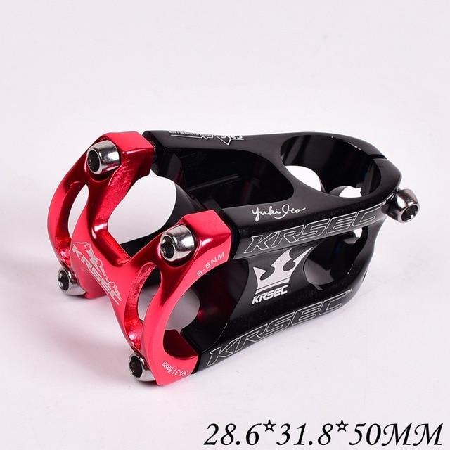 KRSEC 31.8*28.6*50mm MTB Mountain Bike Cycling Aluminium Alloy Handlebar Stem