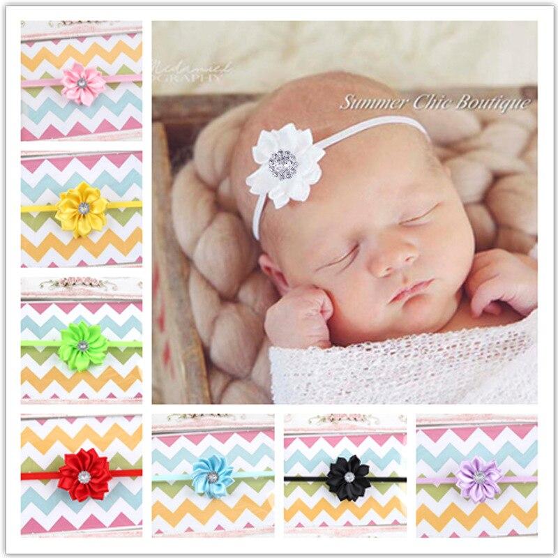 1 Stück Maya Stepan Blume Kinder Haarband Perle Haar Zubehör 10 Farben Baby Neugeborenen Haar Seil Stirnband Headwear Headwrap Hitze Und Durst Lindern.