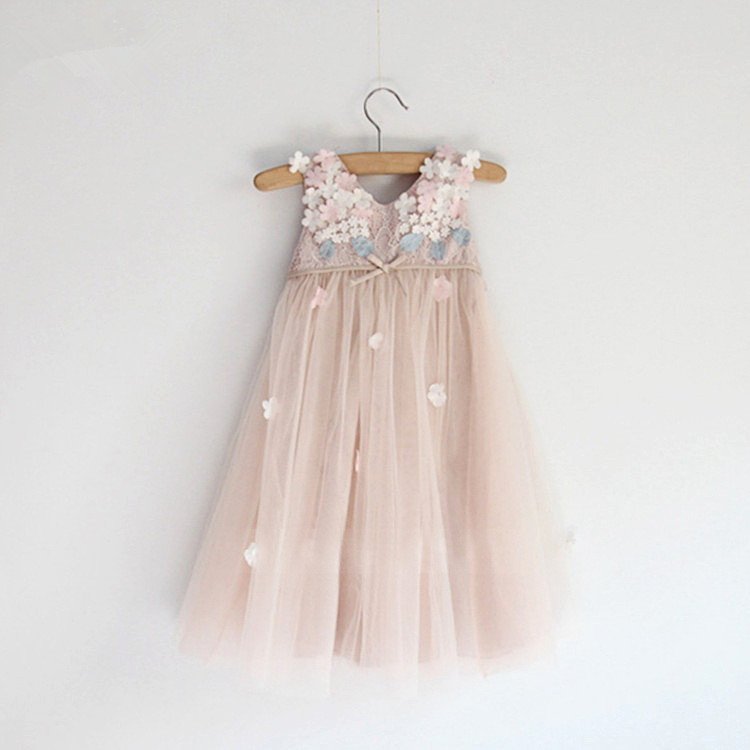 2015 Summer Special Occasion Dress Little Girl Dresses Sleeveless ...