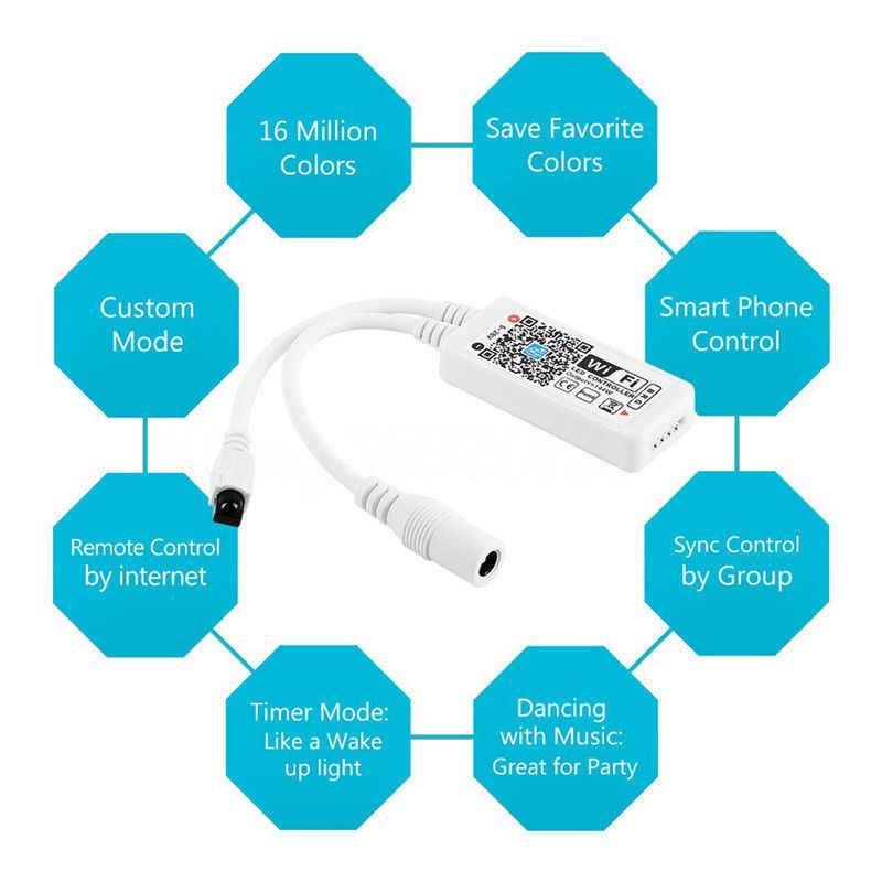 LED Bluetooth WiFi RGB pikseli RGBW pilot zdalnego sterowania muzyka zegar Amazon Alexa Google domu dla WS2801 WS2811 SK6812 WS2812B taśmy
