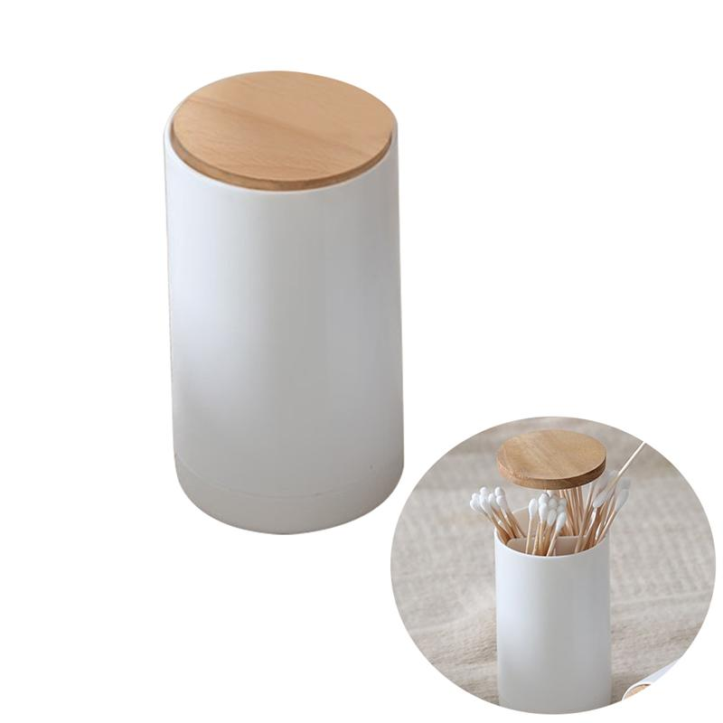 Automatic Pop-up Cotton Bud Swabs Toothpick Holder Dispenser Case  Q-tips Holder Storage Organizer Box Home Hotel Decoration