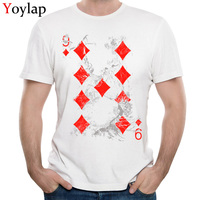 YOYLAP All Cotton Tops T Shirt Card 9 For Adult Funny T Shirts Customized Funny Crew