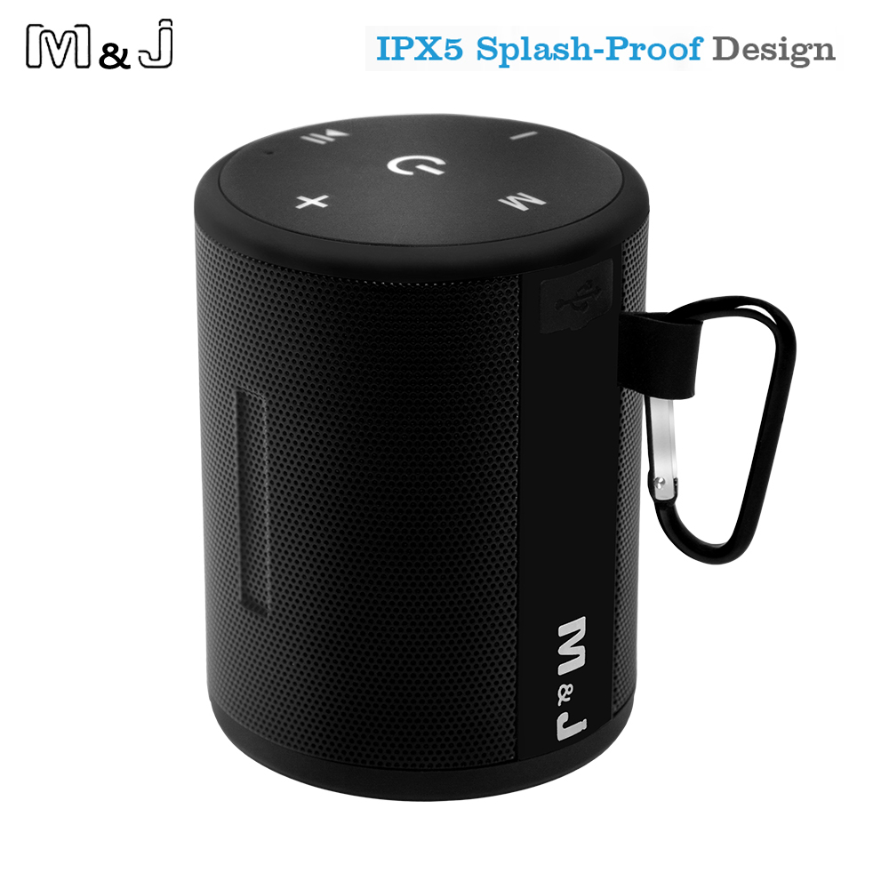 цена M&J T2 Mini 5W Outdoor Waterproof Bluetooth Speaker Portable Stereo Wireless HIFI Speaker With Mic TF Card Series Connection