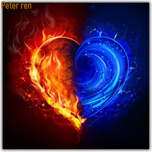 Peter ren Diy Diamond painting cross stitch Square\Round diamond mosaic icon Full embroidery Heart shaped ice and fire