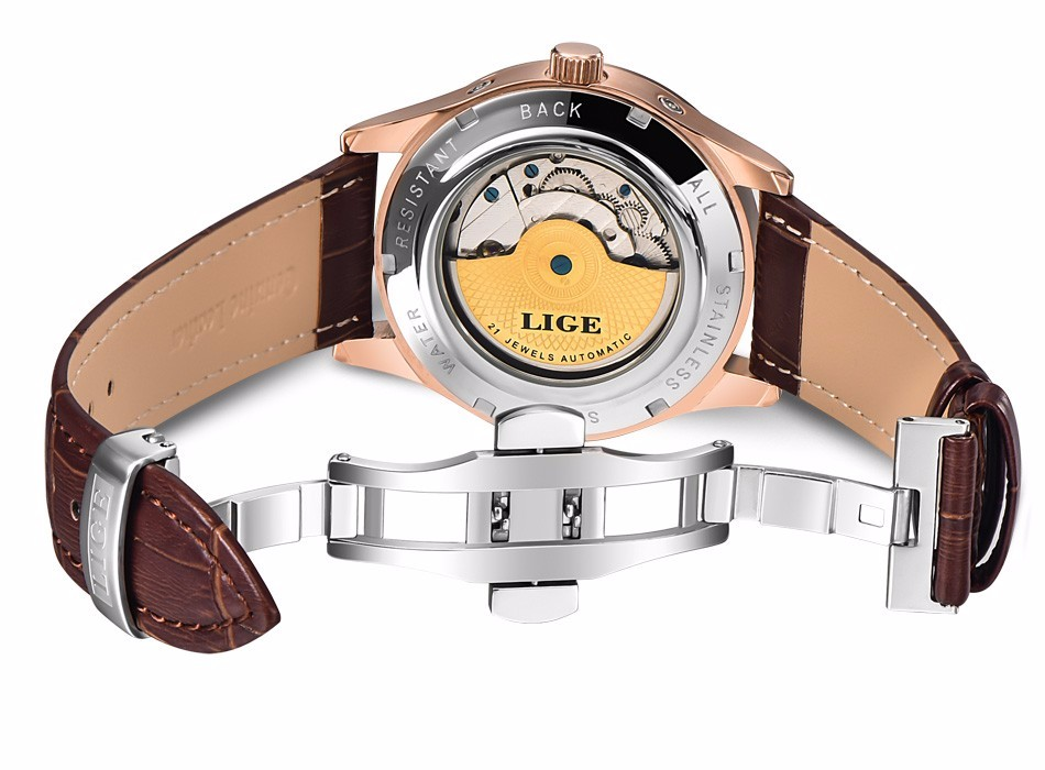 HTB1hD3nfkSWBuNjSszdq6zeSpXaY LIGE Brand Men Watches Automatic Mechanical Watch Tourbillon Sport Clock Leather Casual Business Wrist Watch Gold Relojes Hombre