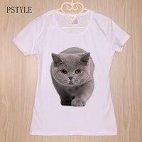 Cute British Shorthair Cat T Shirt Summer Women Girl Friend Gift T Shirt Felinae Printed T