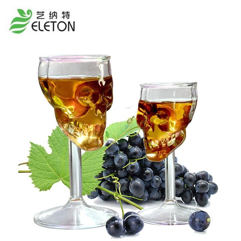 75ml Skull Head Shot Glass vodka whisky Beer Tea Glass Cup Wine Coffee Mug Skull Head Shot Shape for Party Bar Drinkware