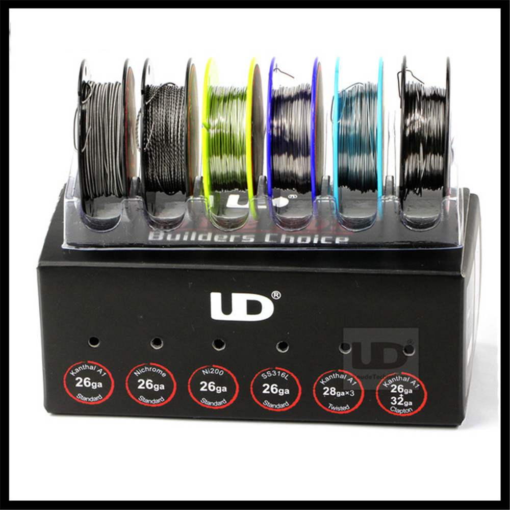 Original Youde UD Wire Box with 6 kinds of wires SS316L/Ni200/Nichrome Wires 6pcs wire in one box 2 Rebuild DIY E Cigarette RDTA цена