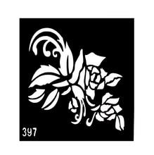 Design Henna Tattoo Stencils For Hand Reusable Airbrush Tattoo Stencil For Printing Templates Pochoir Tatouage T001-397EE