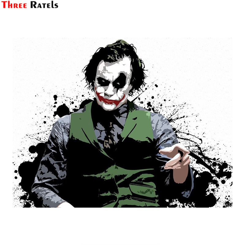 Three Ratels LCS436# 14.2x11cm Joker Why So Serious Car Stickers Funny Car Stickers Styling Removable Decal