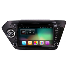 """8 """"2Din Android 4.4 Coches Reproductor de DVD para Kia K2 Rio 2010 2011 2012 2013 2014 2015 1024*600 de Navegación GPS Del Coche Reproductor de Vídeo 8G Tarjeta"""