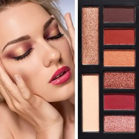 8 Color New Arrival Beauty Glitte Eyeshadow Palette Make Up Matte Shimmer Pigmented nude Eye Shadow Powder Cosmetic Set R1 Eyeshadow