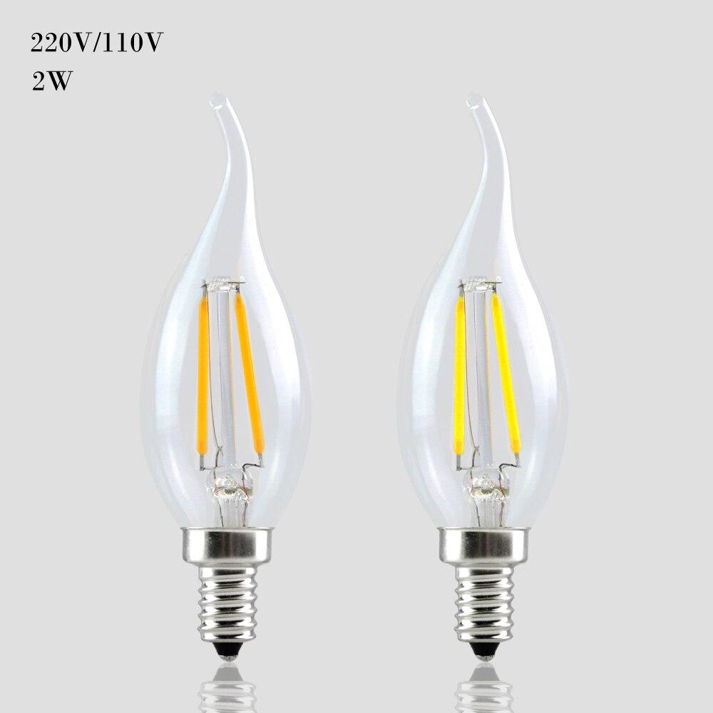 Lampada Led 16 Leds Us2 Light 220v Dimmable Retro 6w 110v Candle 35OffBuy E12 Foxanon E14 Bulb Filament Lamp 4 3LR54Aj