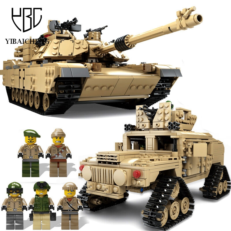 ФОТО 1463pcs Building Blocks Military Theme Tank Building Blocks M1A2 ABRAMS MBT KY10000 1 Change 2 Toy Tank Models Toys For Children