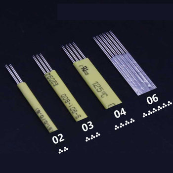 цены 100 pcs Superfine Permanent Makeup Eyebrow Tatoo Blade Microblading Needles For 3D Embroidery Manual Tattoo Pen