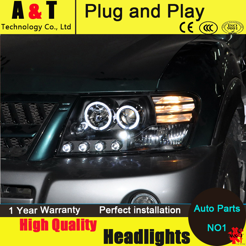 Car Styling Head Lamp for Mitsubishi Pajero headlight assembly Pajero V73 led headlight turn signal drl H7 with hid kit 2 pcs. car styling head lamp for bmw e84 x1 led headlight assembly 2009 2014 e84 led drl h7 with hid kit 2 pcs