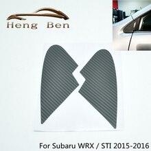 1 пара углеродное волокно четверть окна отделка накладка наклейка для Subaru WRX/STI 16