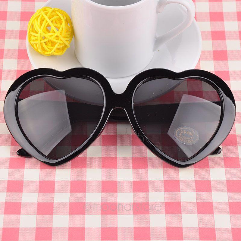 New Retro Heart Shaped Women's Sun Glasses Goggle Eyewear Anti UV 400 Fashion Brand Sunglasses Women