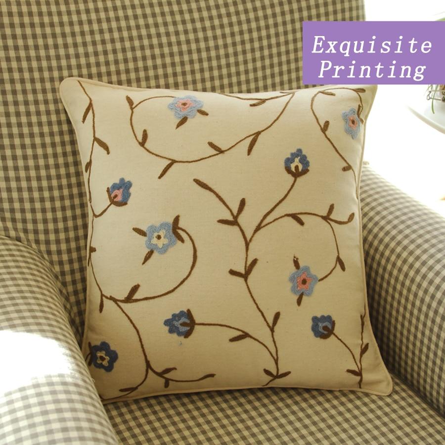 Pillowcases Flower Decorative Body Pilows Embroidery Cushions For Sofas Rural Home Dcor Dakimakura Cojines Decorativos CCJY56