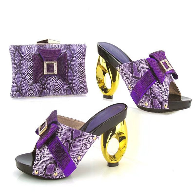 TYS17 95 Purple 2017 Latest Woman's Shoes And Bag Set Hot ...