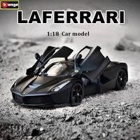 Bburago 1:18 Ferrari LAFERRARI black car model 1 18 simulation alloy original Rafa sports car model super running car model gift