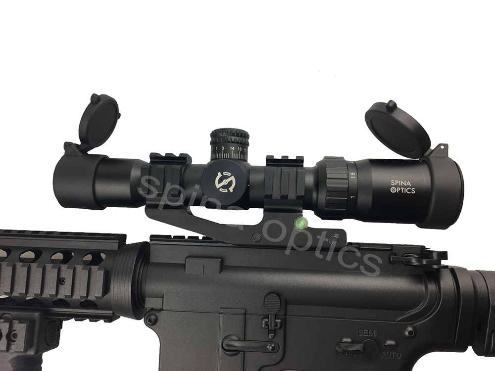 Hunting Riflescope 1-4X Glass Etched Chevron Reticle Long Eye Relief Tactical Optical Sight RG lluminated Rifle Scope 1 4x24 r12 r29 glass reticle tactical riflescope red illuminate optical sight for hunting rifle scope