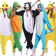Kigurumi Women Pajama Cartoon Animal  Black White Bear Adult Onesie Danganronpa Monokuma Overalls Suit Polar Fleece Sleepwear XL