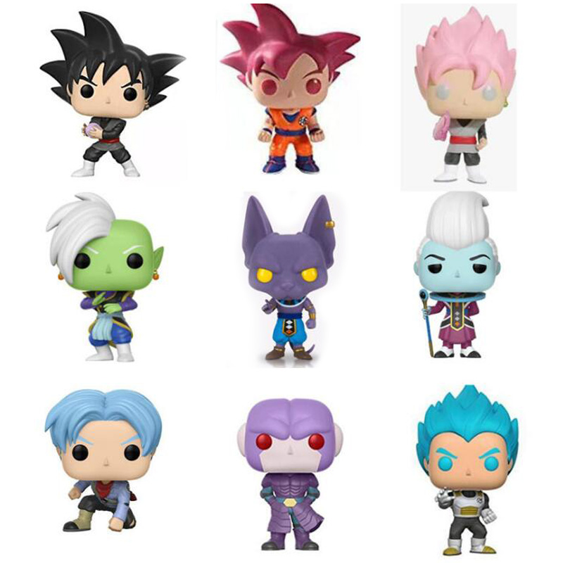 Anime Dragon Ball Z Character 10cm Cute Vinyl Model Dolls Action Figure Toys